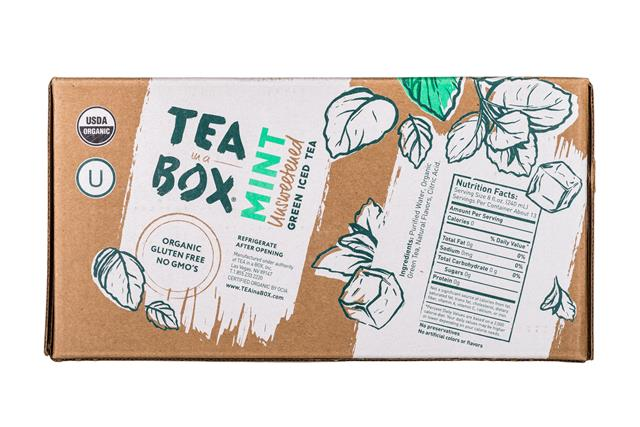 Tea in a Box: TeaInABox-FamilyPack-3Liter-Mint-Facts