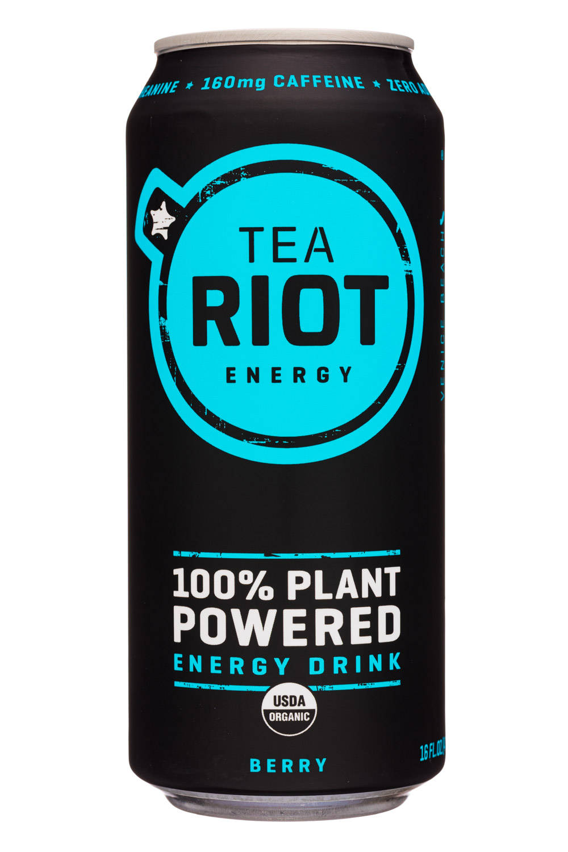 Tea Riot: TeaRiot-16oz-2020-Energy-Berry-Front