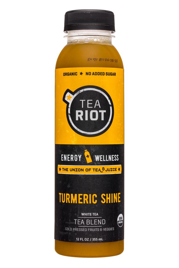 Tea Riot: TeaRiot-12oz-Tea-TurmericShine-Front