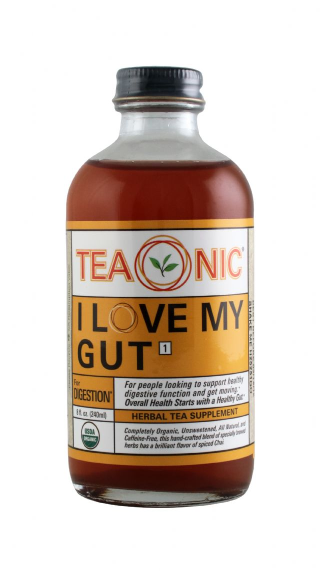 Teaonic Herbal Tea Tonics: TeaOnic Gut Front