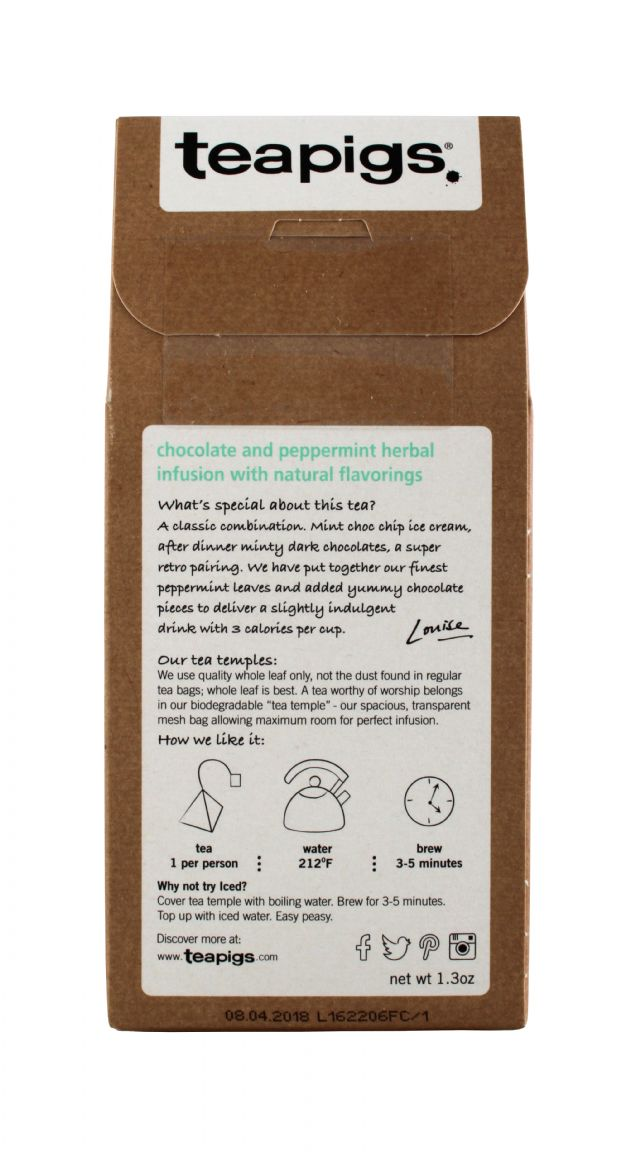 teapigs: TeaPigs ChocoMint Facts