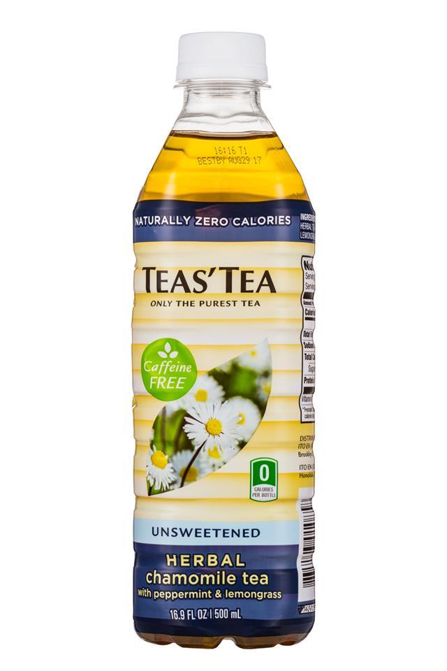 Teas' Tea: TeasTea-17oz-Unsweetened-HerbalChamomile-Front