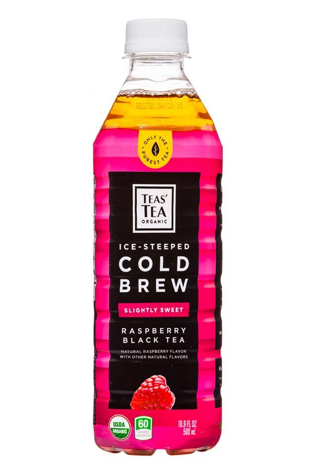 Teas' Tea: TeasTea-IcedSteeped-ColdBrew-17oz-RaspberrryBlackTea-Front