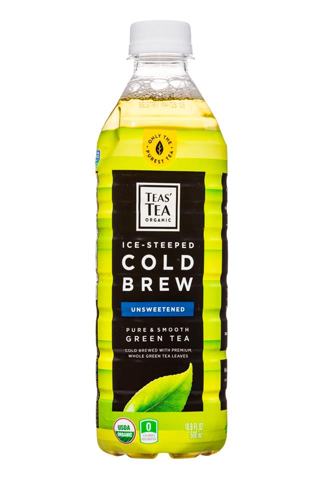 Teas' Tea: TeasTea-IcedSteeped-ColdBrew-17oz-GreenTea-Front
