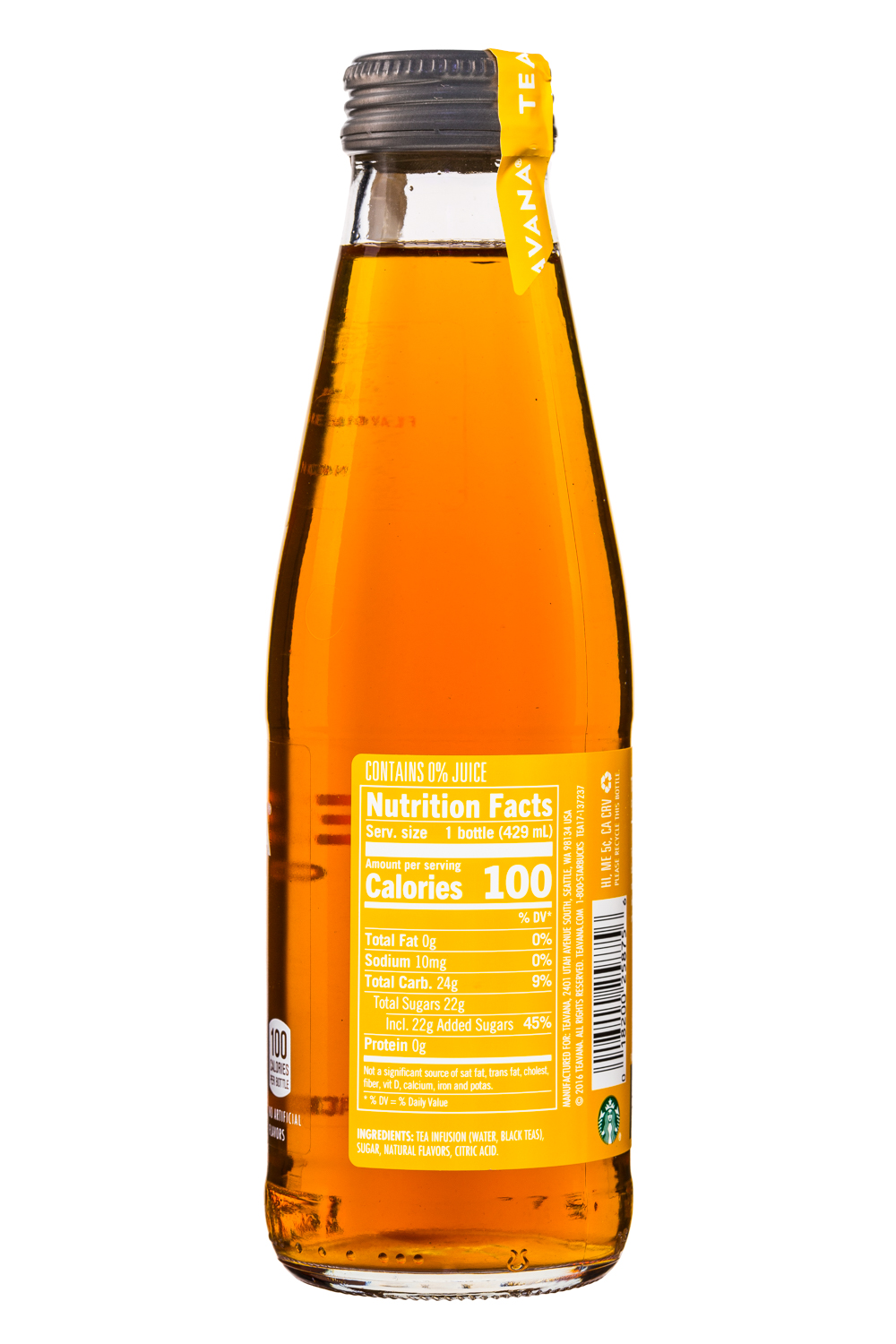 Teavana: Teavana-IcedTea-14oz-Mango-Facts