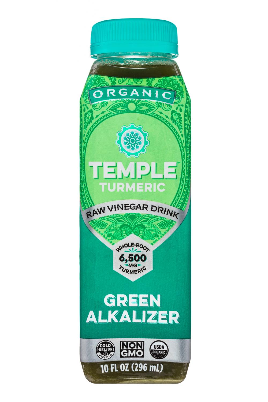 Temple Turmeric Raw Vinegar Drink: TempleTurmeric-10oz-RVD-GreenAlkalizer-Front