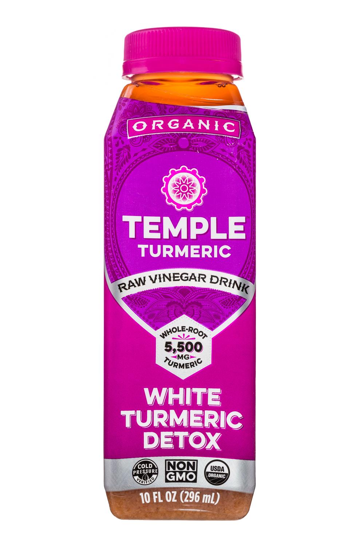 Temple Turmeric Raw Vinegar Drink: TempleTurmeric-10oz-RVD-WhiteTurmericDetox-Front