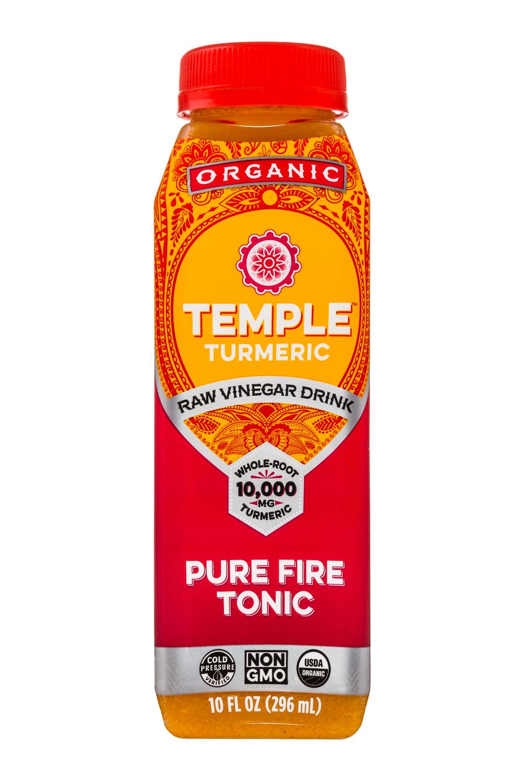 Temple Turmeric Raw Vinegar Drink: TempleTurmeric-10oz-RVD-PureFireTonic-Front