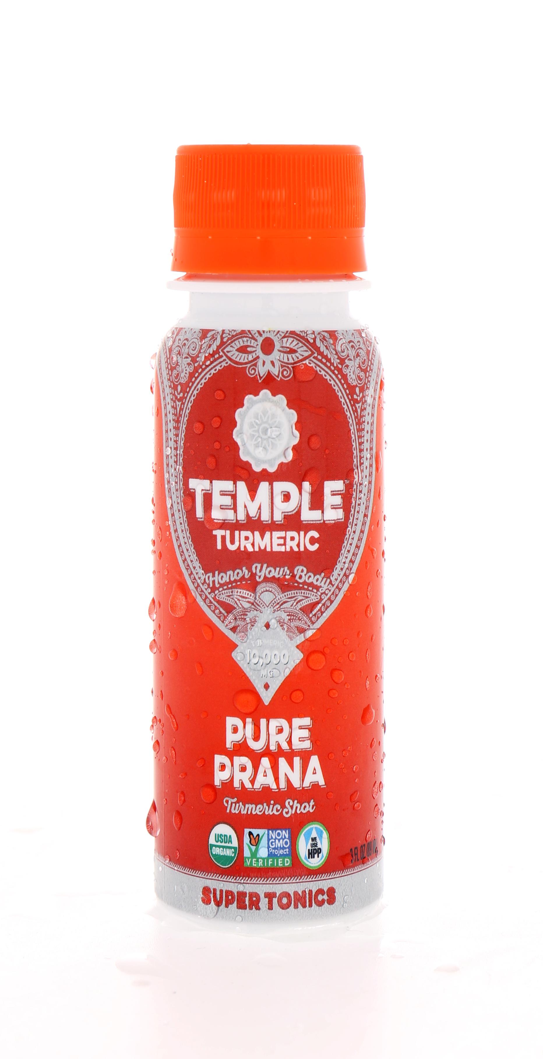 Temple Turmeric Super Elixirs: Temple PurePrana Front