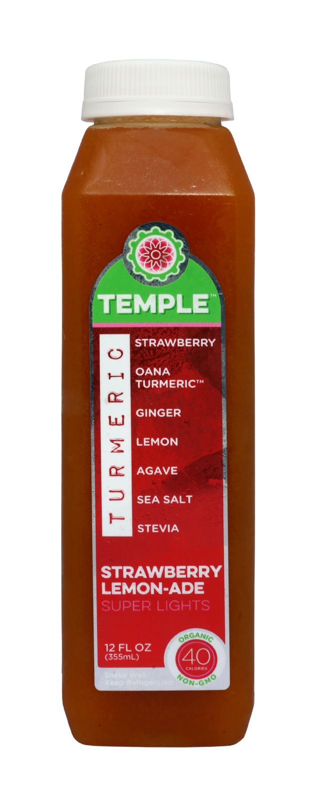 Temple Turmeric Super Lights: Temple StrawLem Front