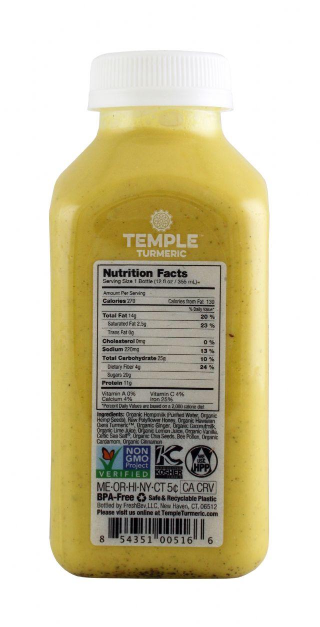 Temple Turmeric: TumericTemple GoldenMylk Facts