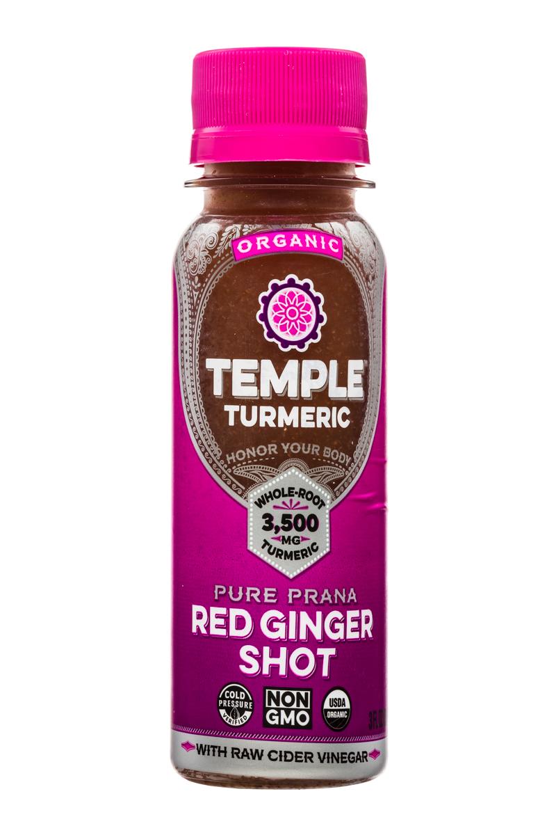 Temple Turmeric: TempleTurmeric-Shot-3oz-RedGinger-Front