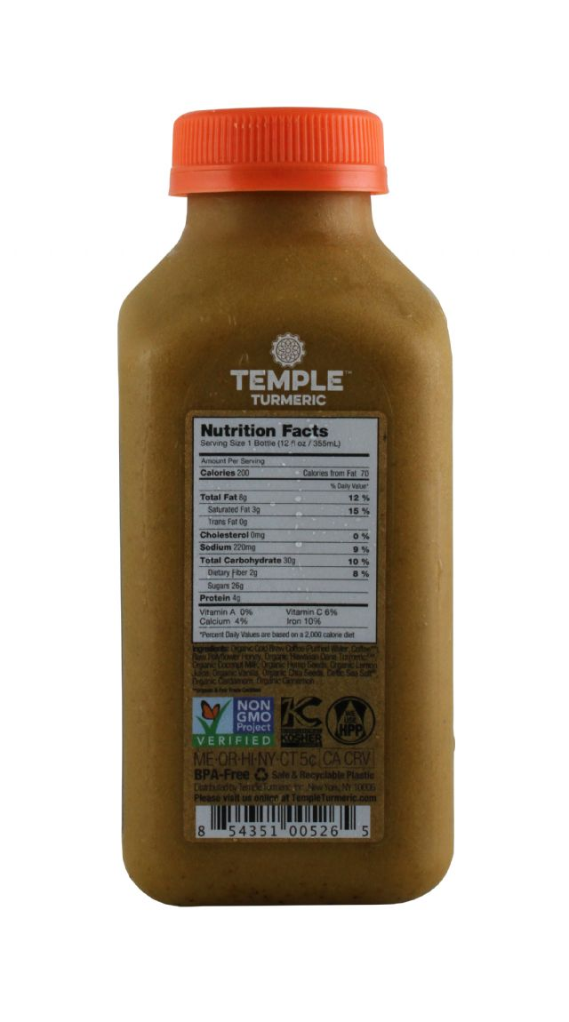 Temple Turmeric: Temple BulletBrew Facts