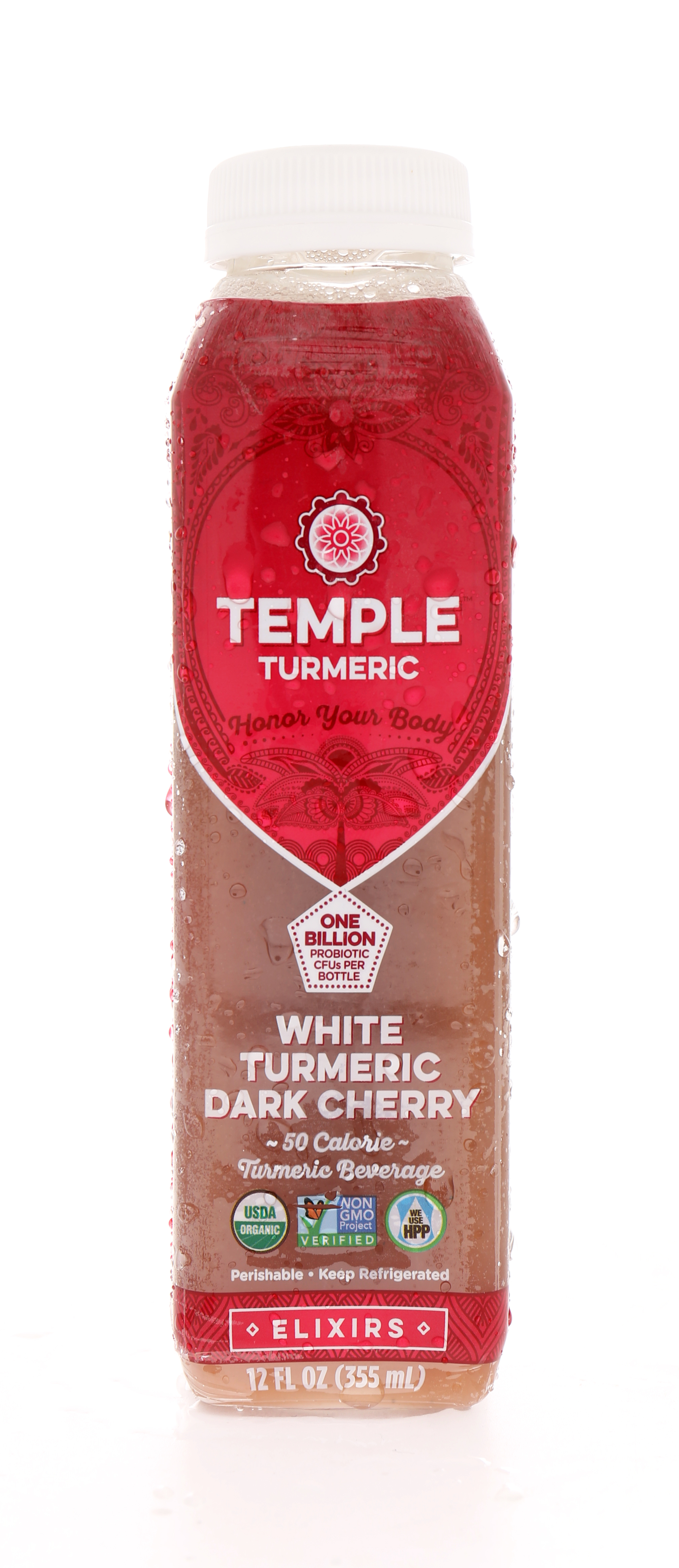 Temple Turmeric: Temple WhiteCherry Front