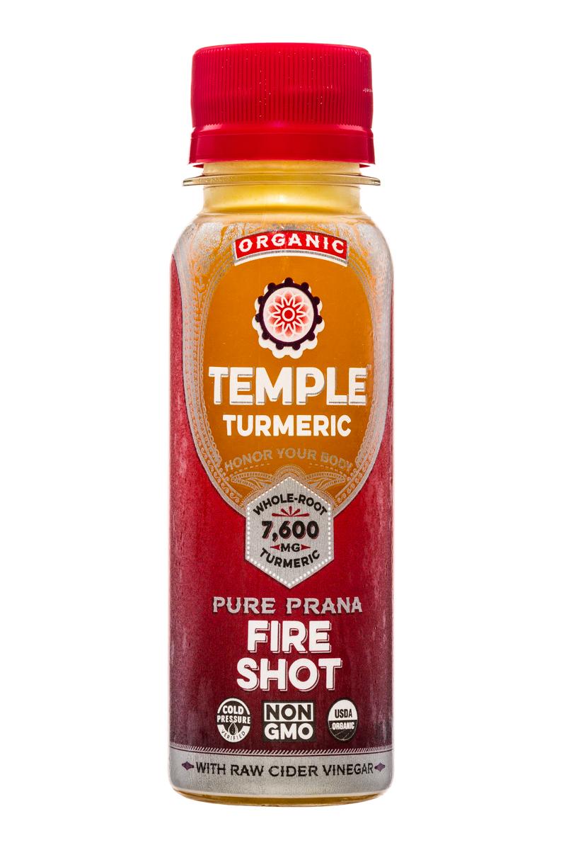Temple Turmeric: TempleTurmeric-Shot-3oz-Fire-Front