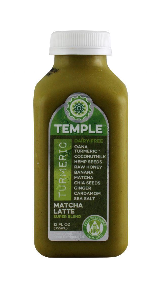 Temple Turmeric: Temple MatchaLatte Front