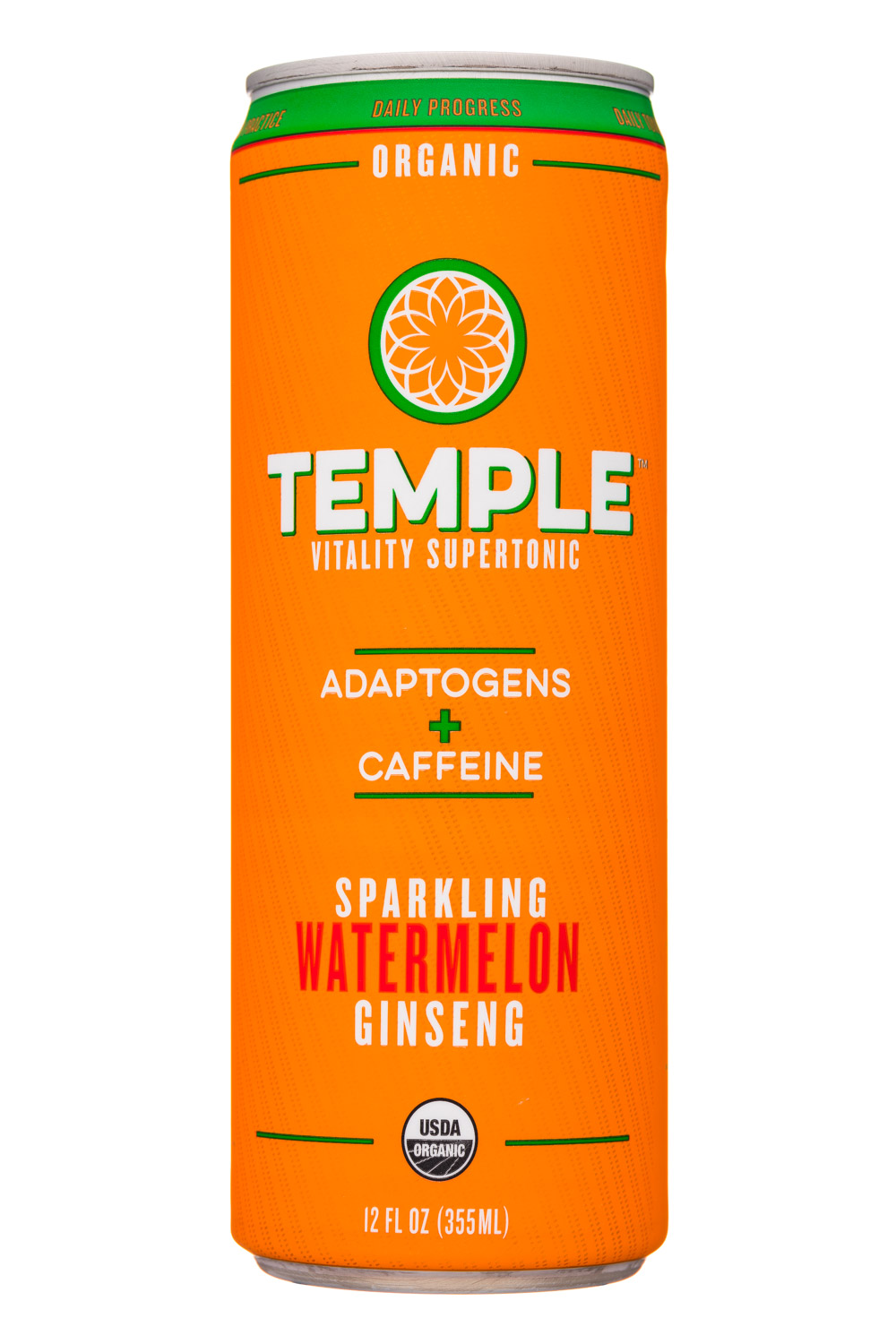 Temple Vitality Supertonic: Temple-12oz-Supertonic-Sparkling-WatermelongGinseng-Front