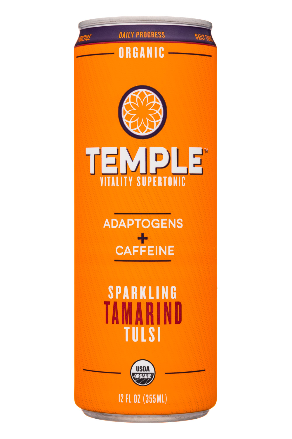 Temple Vitality Supertonic: Temple-12oz-Supertonic-Sparkling-TamarindTulsi-Front