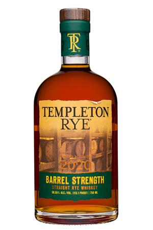 Templeton Rye: TempletonRye-750ml-2020-BarrelStrength-RyeWhiskey
