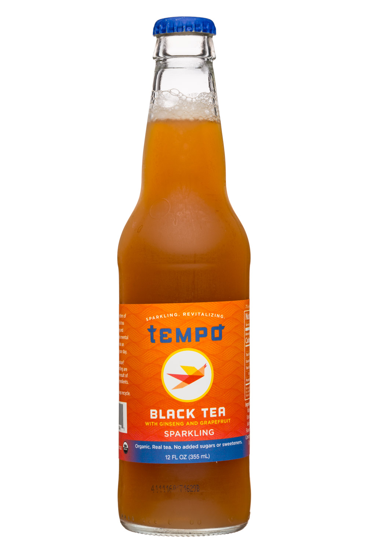 Tempo: Tempo-12oz-SparklingTea-Black-Front