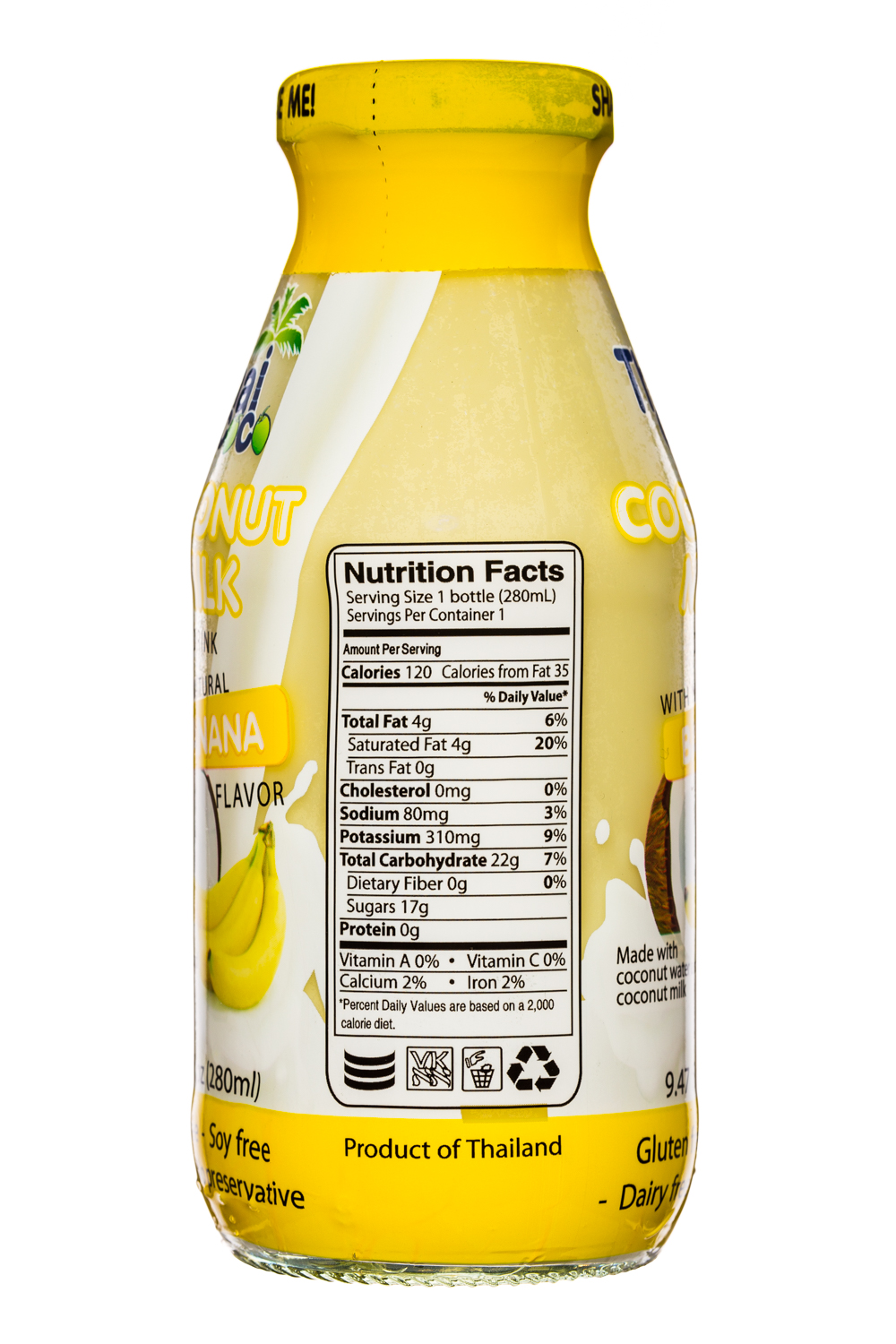 Thai Coco: ThaiCoco-CoconutMilk-9oz-Banana-Facts