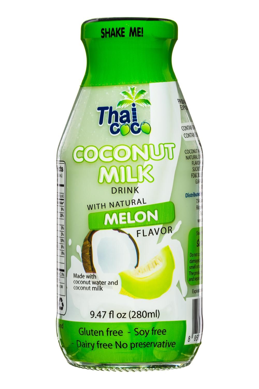 Thai Coco: ThaiCoco-CoconutMilk-9oz-Melon-Front