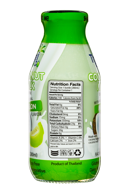 Thai Coco: ThaiCoco-CoconutMilk-9oz-Melon-Facts