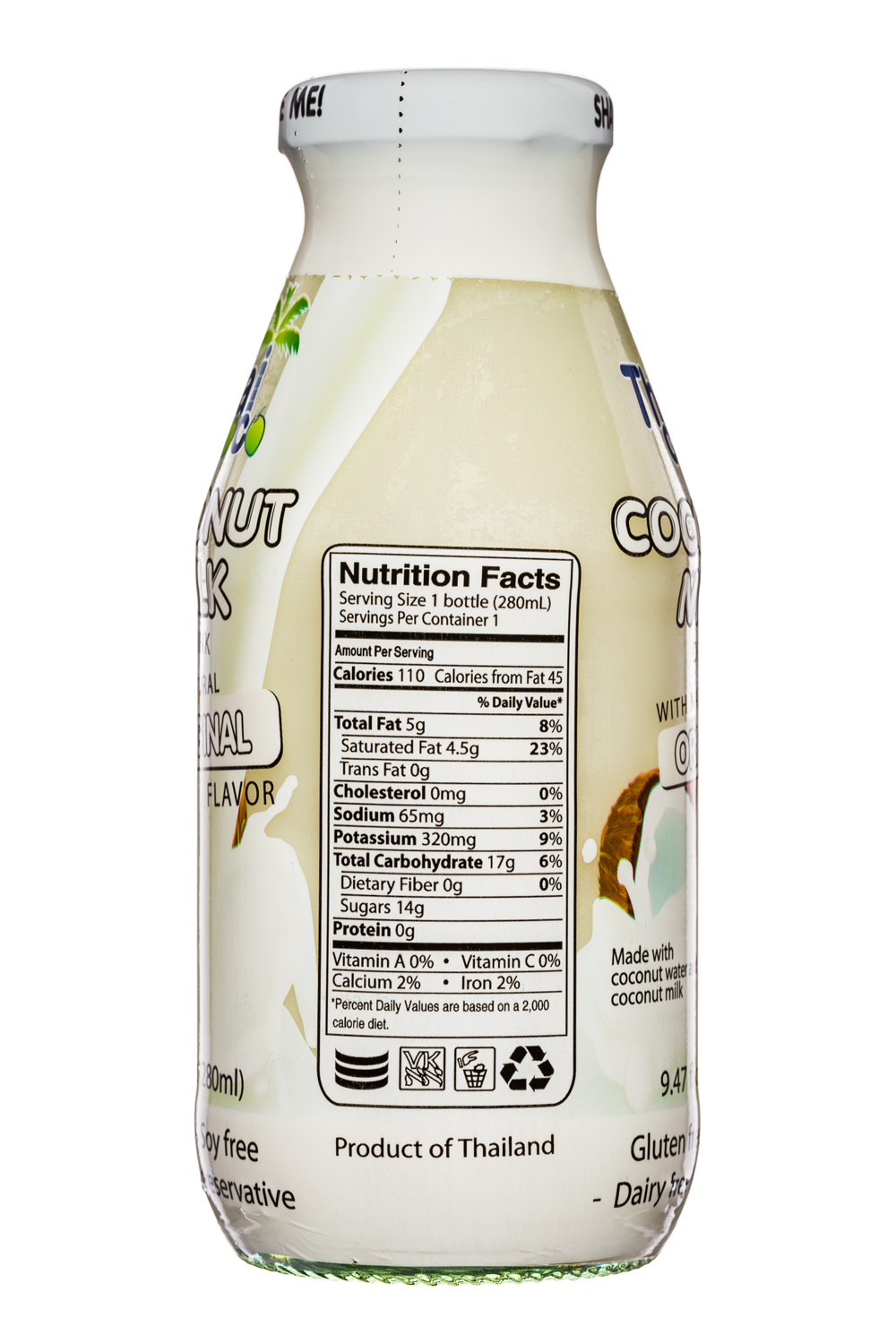 Thai Coco: ThaiCoco-CoconutMilk-9oz-OG-Facts