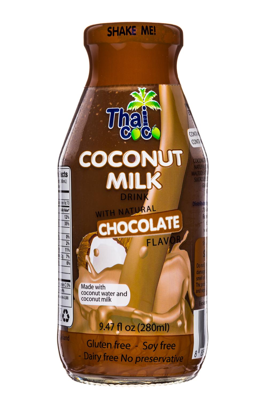 Thai Coco: ThaiCoco-CoconutMilk-9oz-Choc-Front