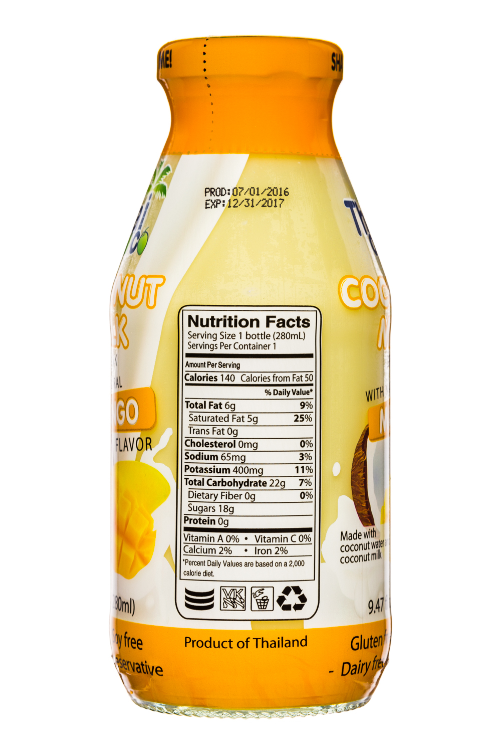 Thai Coco: ThaiCoco-CoconutMilk-9oz-Mango-Facts