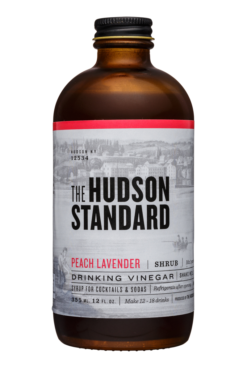 The Hudson Standard Shrub: TheHudsonStandard-12oz-DrinkingVinegar-PeachLavender-Front