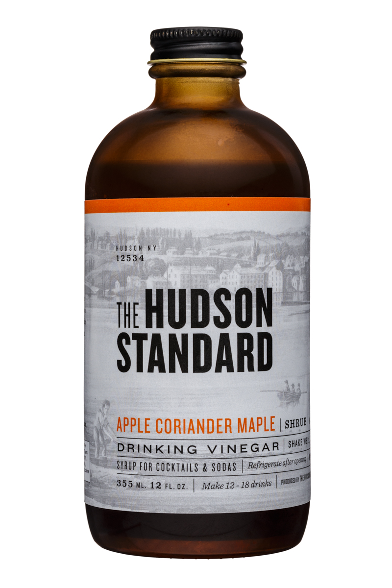 The Hudson Standard Shrub: TheHudsonStandard-12oz-DrinkingVinegar-AppleCorianderMaple-Front