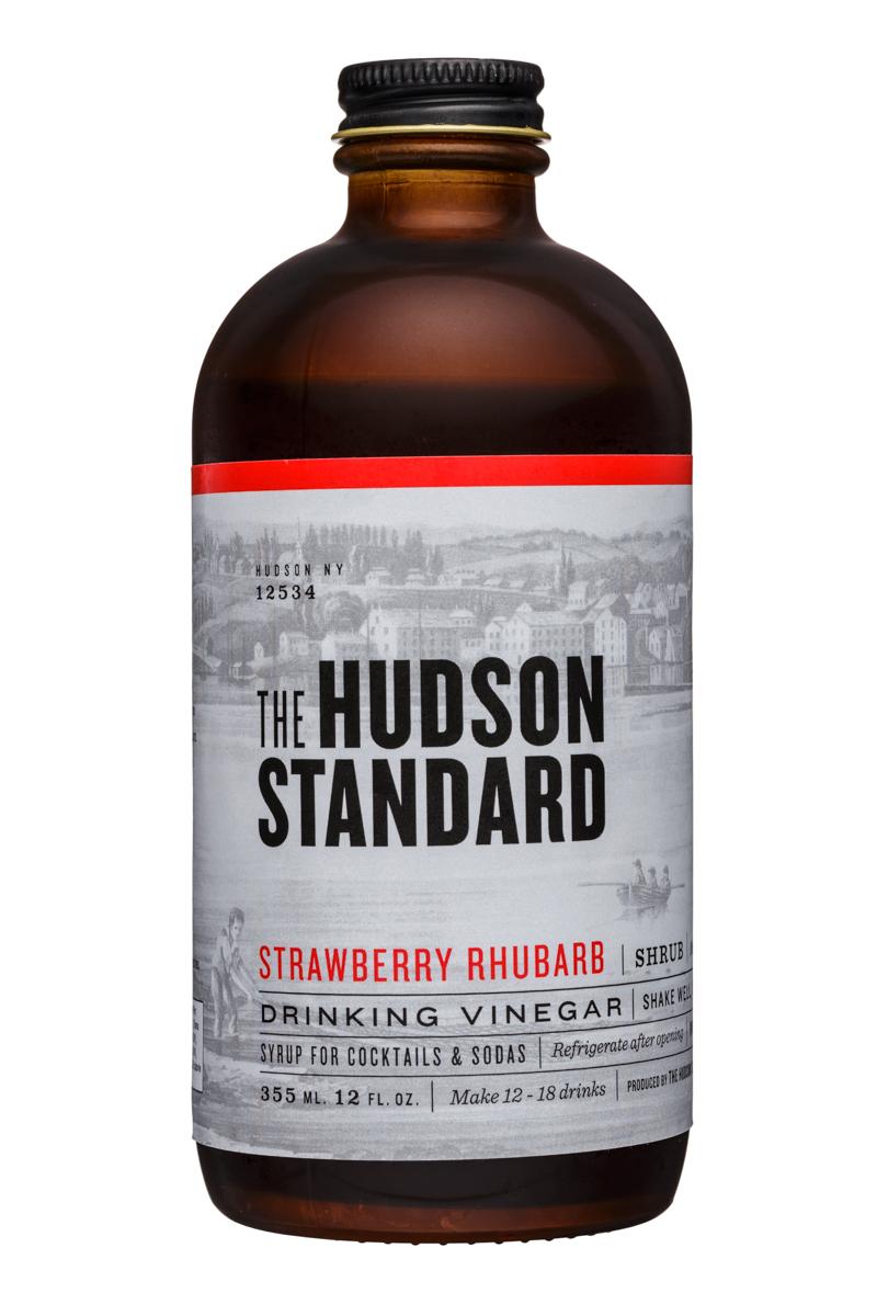 The Hudson Standard Shrub: TheHudsonStandard-12oz-DrinkingVinegar-StrawberryRhubarb-Front