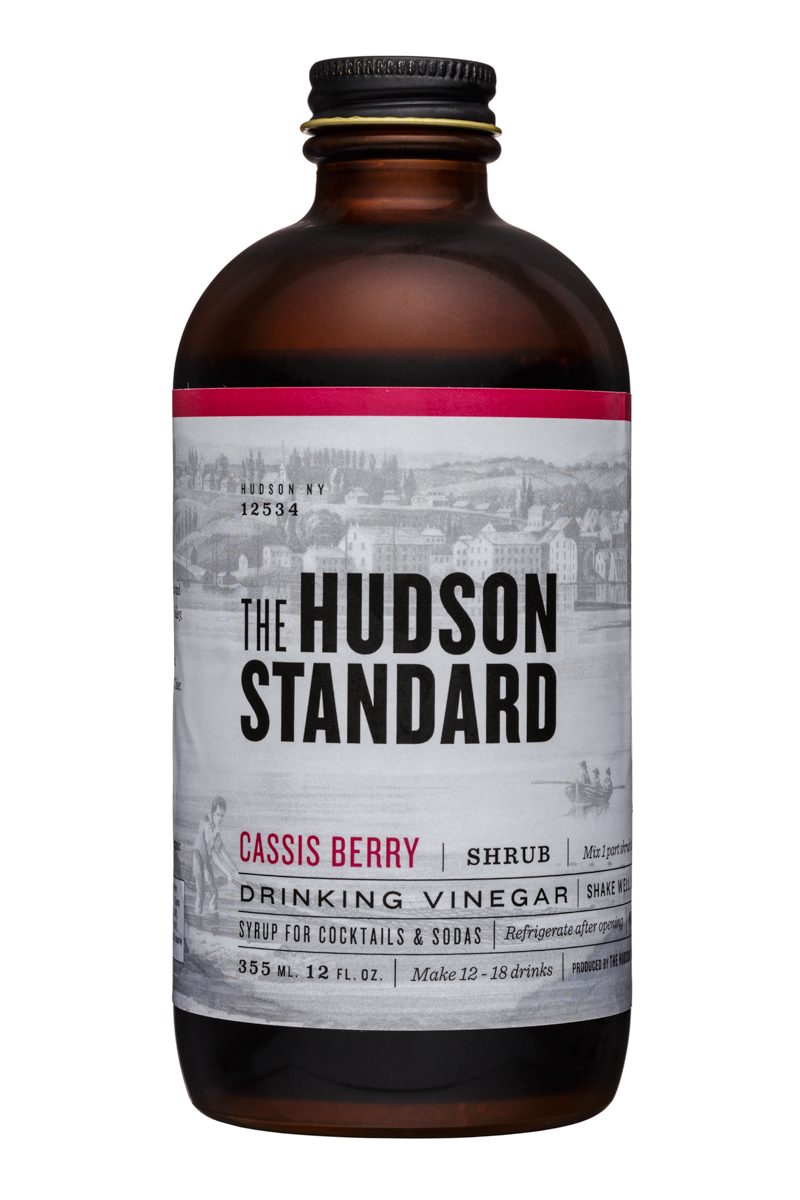 The Hudson Standard Shrub: TheHudsonStandard-12oz-DrinkingVinegar-CassisBerry-Front