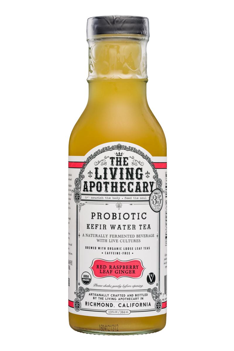 The Living Apothecary: TheLivingApothecary-13oz-ProbioticKefirWarerTea-RedRaspberryLeafGinger-Front