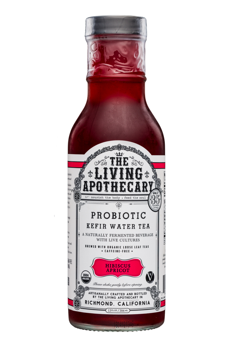 The Living Apothecary: TheLivingApothecary-13oz-ProbioticKefirWarerTea-HibiscusApricot-Front