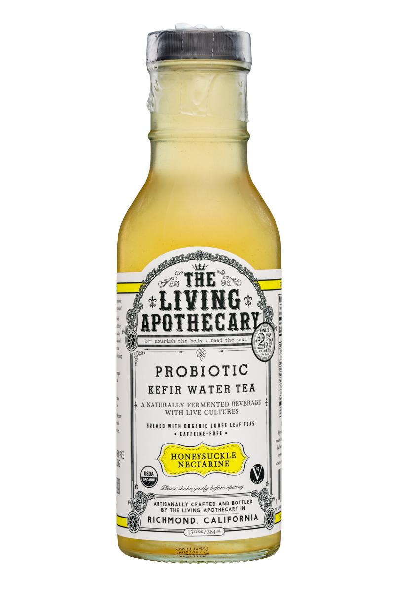 The Living Apothecary: TheLivingApothecary-13oz-ProbioticKefirWarerTea-HoneysuckleNectarine-Front