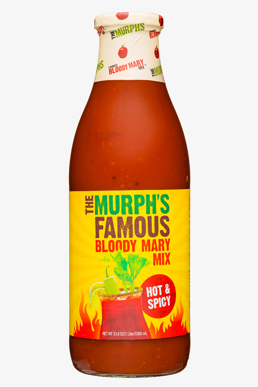 The Murph's Famous Bloody Mary Mix: TheMurphsFamous-34oz-2020-BloodyMaryMix-HotSpicy-Front