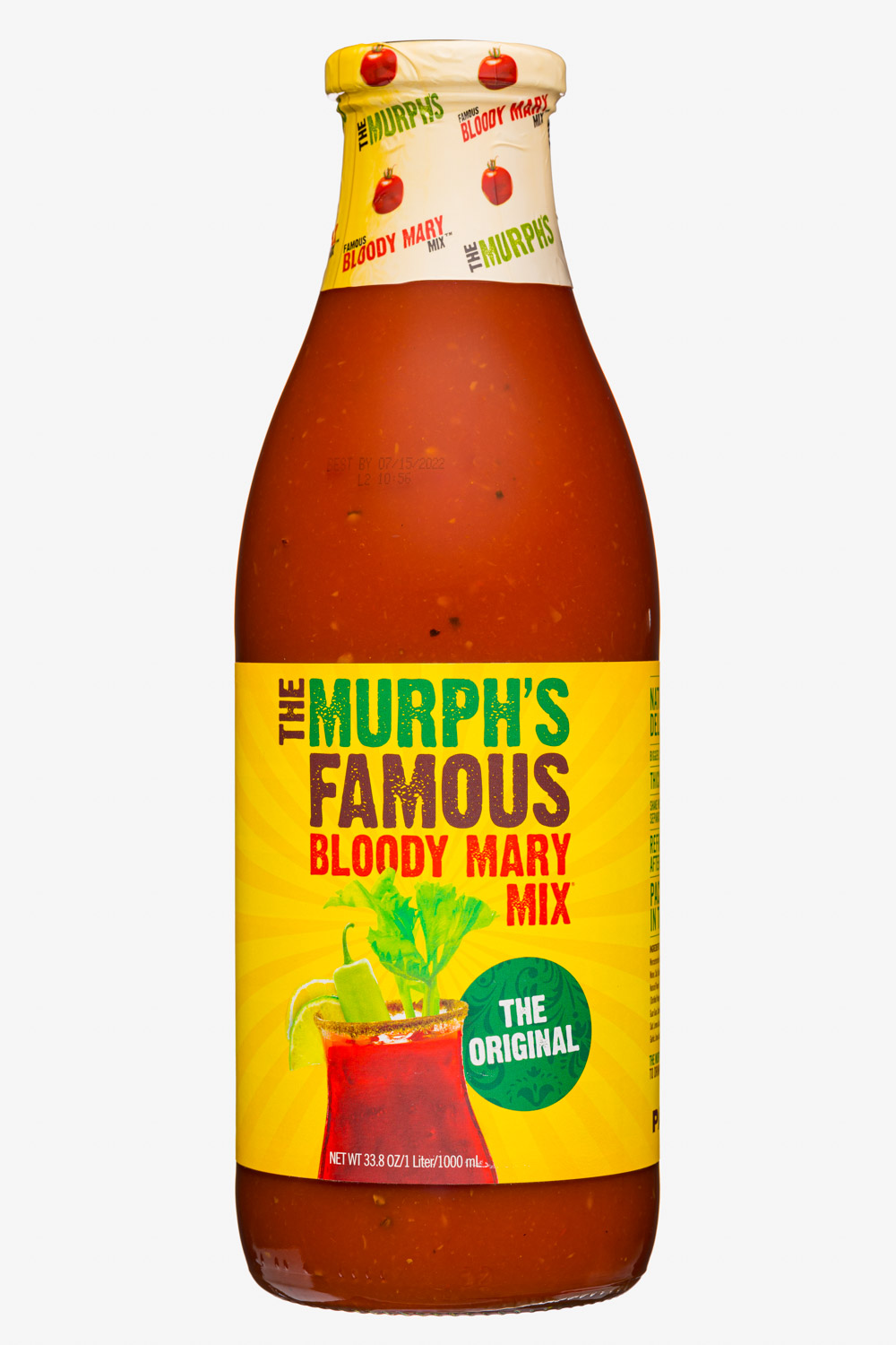 The Murph's Famous Bloody Mary Mix: TheMurphsFamous-34oz-2020-BloodyMaryMix-TheOriginal-Front