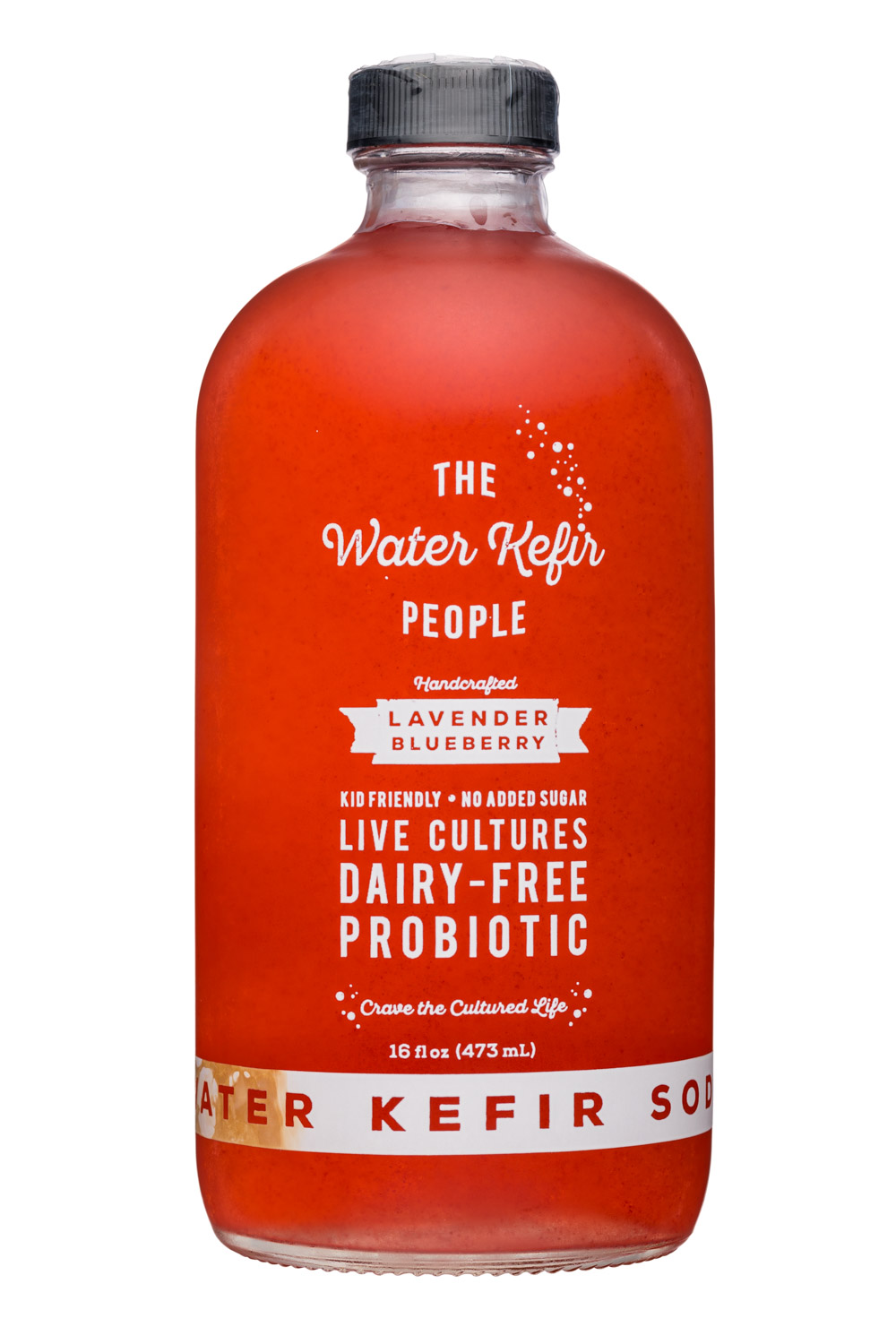 The Water Kefir People: TheWaterKefirPeople-16oz-LavenderBlueberry-Front