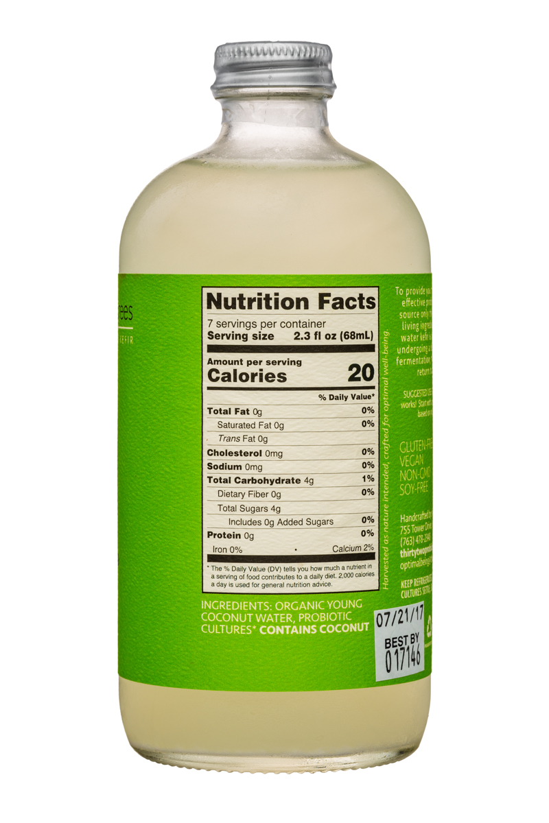 Thirty-Two Degrees: ThirtyTwoDegrees-16oz-CoconutWaterKefir-Young-Facts