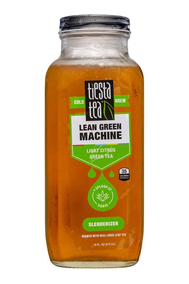 Tiesta Tea Cold Brew: TiestaTea-16oz-ColdBrew-LeanGreenMachine-Slenderizer-Front