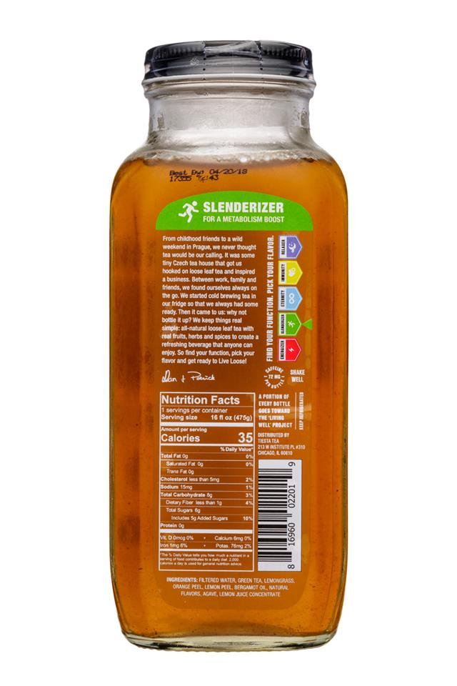 Tiesta Tea Cold Brew: TiestaTea-16oz-ColdBrew-LeanGreanmachine-Slenderizer-Facts