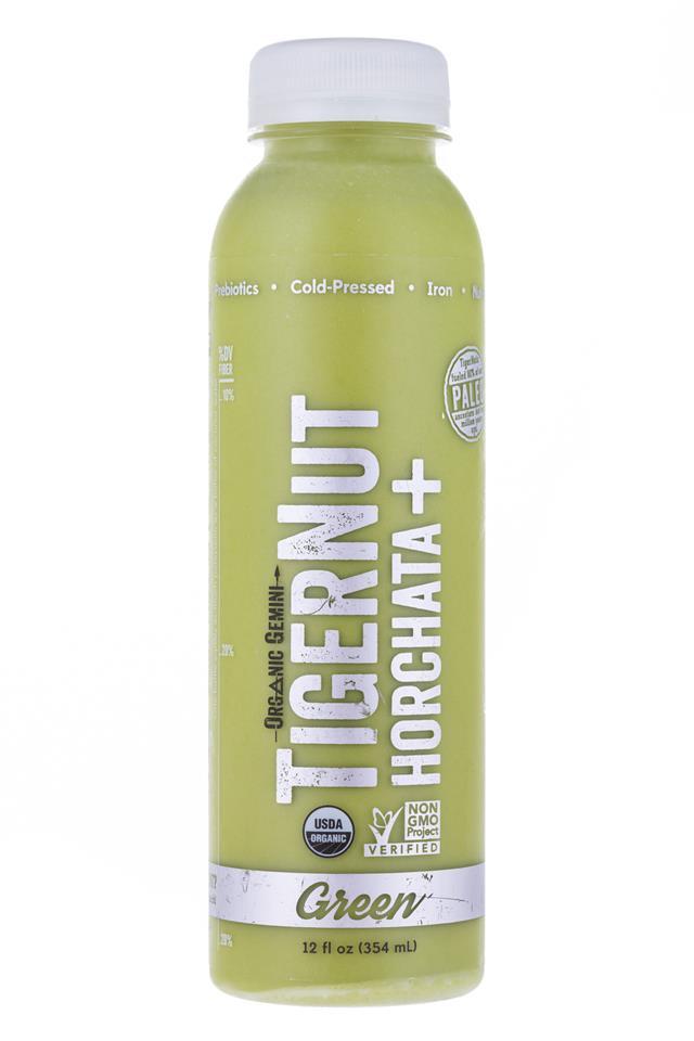 Tigernut Horchata: OrganicGemini-TigerNutHorchata-Green-Front
