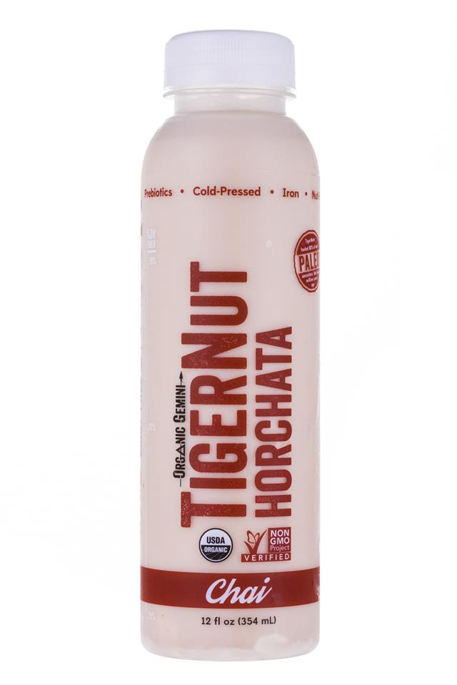 Tigernut Horchata: OrganicGemini-TigerNutHorchata-Chai-Front