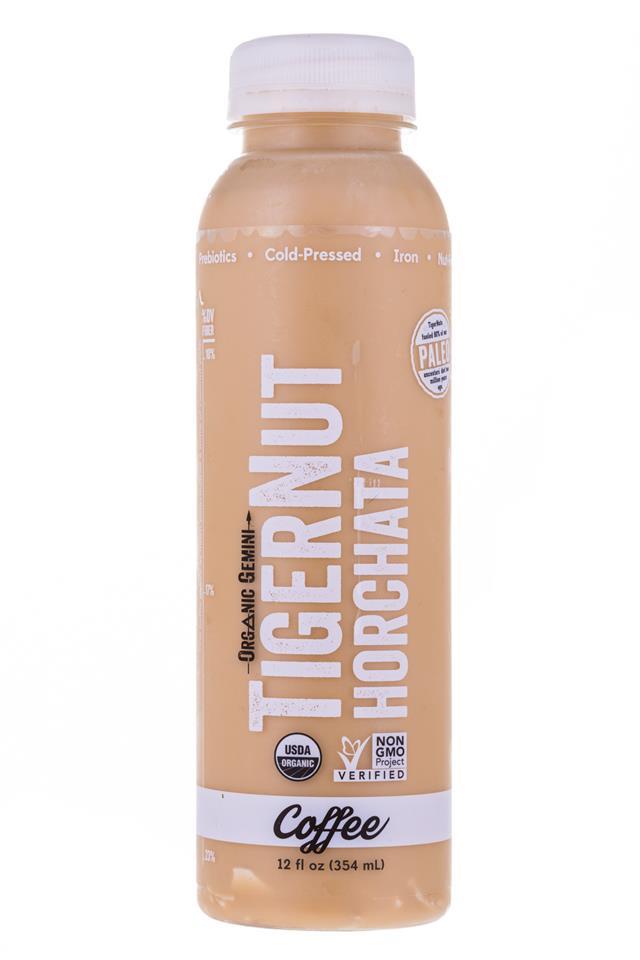 Tigernut Horchata: OrganicGemini-TigerNutHorchata-Coffee-Front
