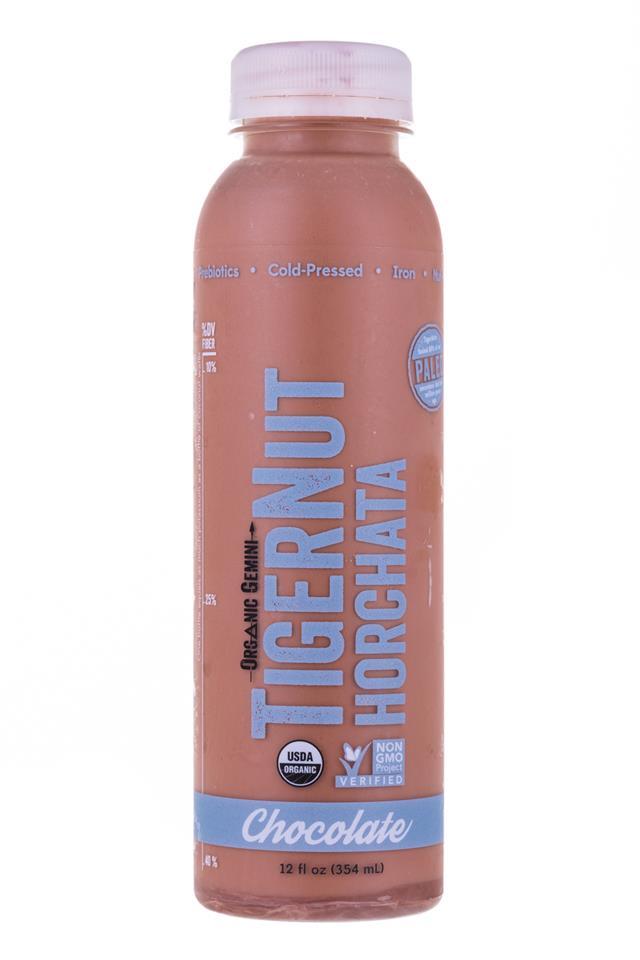 Tigernut Horchata: OrganicGemini-TigerNutHorchata-Chocolate-Front