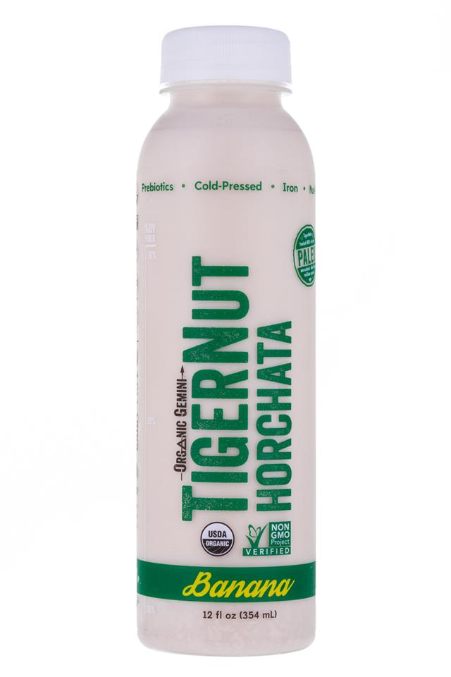 Tigernut Horchata: OrganicGemini-TigerNutHorchata-Banana-Front