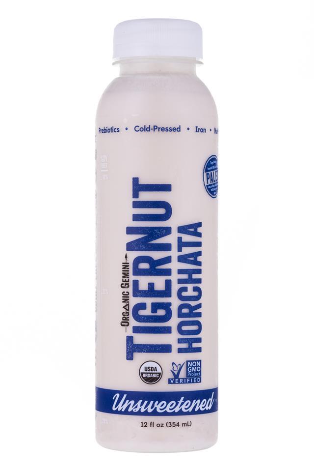 Tigernut Horchata: OrganicGemini-TigerNutHorchata-Unsweetened-Front