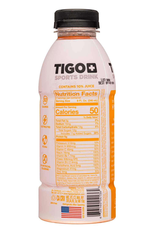 Tigo: Tigo-17oz-SportsDrink-OrangeTangerine-Facts